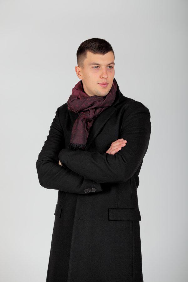 Пальто чорне/сине 101272